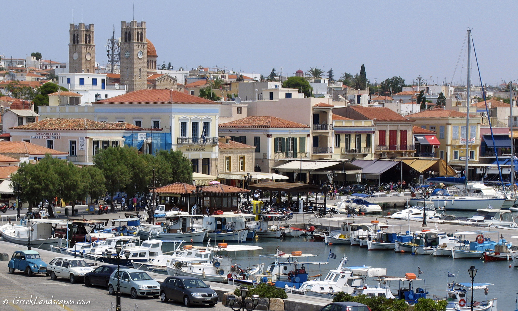 Aegina town and harbor