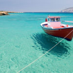 Fishing boat in Fanos beach