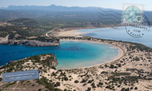View of Voidokilia beach from above