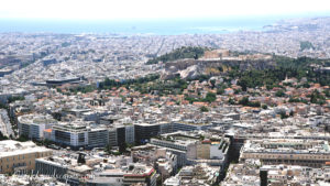 View of Athens from Lykavitos with the Acropolis