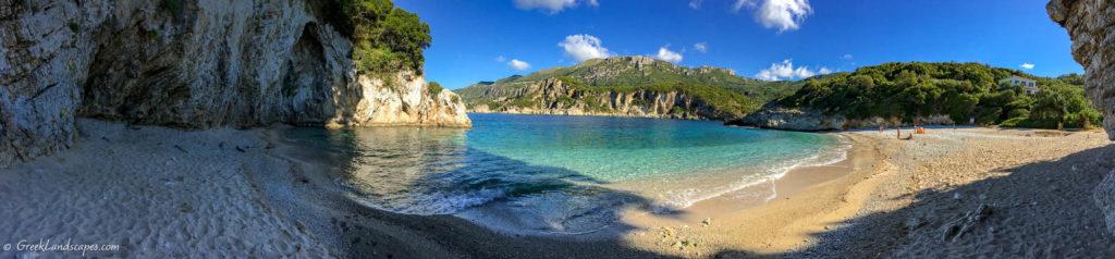 Rovinia beach panorama