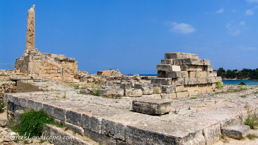 The Temple of Apollo in Ancient Aegina Town we call Kolonna
