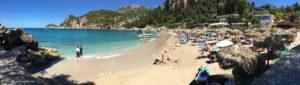 The beach of Liapades in Corfu