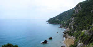 Myrtiotissa beach in Corfu