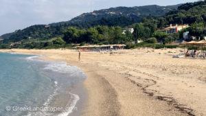 View of Riza beach in Preveza