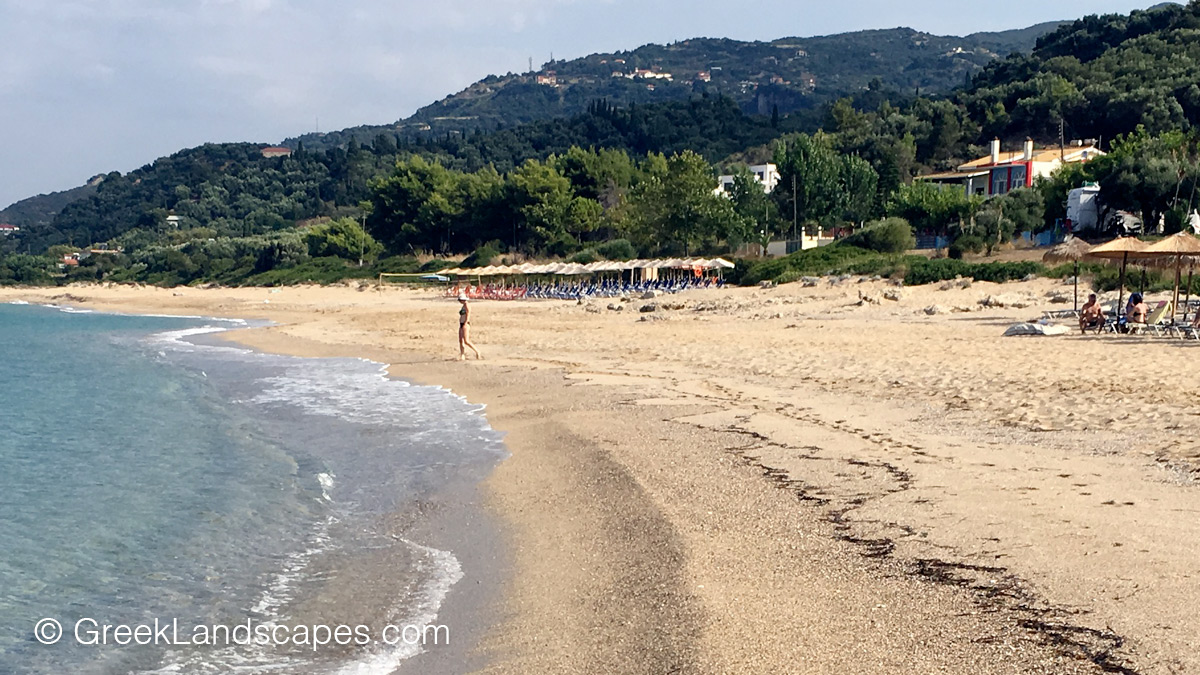 View of Riza beach in Preveza