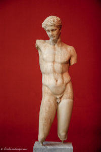 Marble statue of athlete