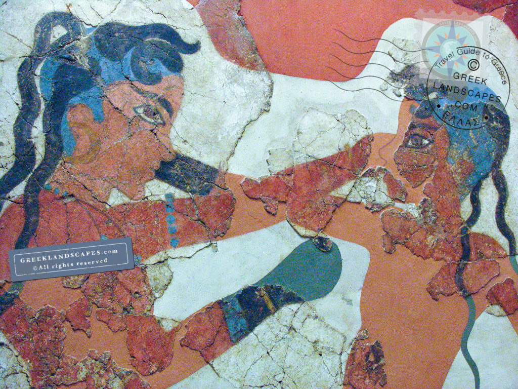 Akrotiri fresco with boxing boys
