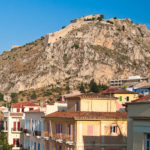 View of Palamidi fortress from Nafplio old town