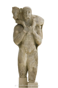 Statue of Moschophoros at the Acropolis museum
