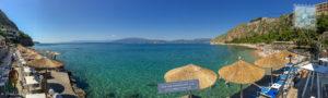 Arvanitia beach and bar