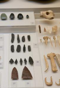 Stone age arrowheads and bone tools at Nafplio Arhaeological museum