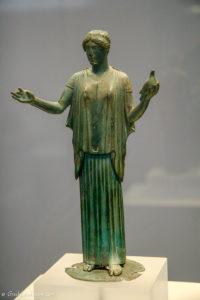 bronze statuette of female figure