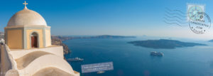 View of the Aegean from the caldera
