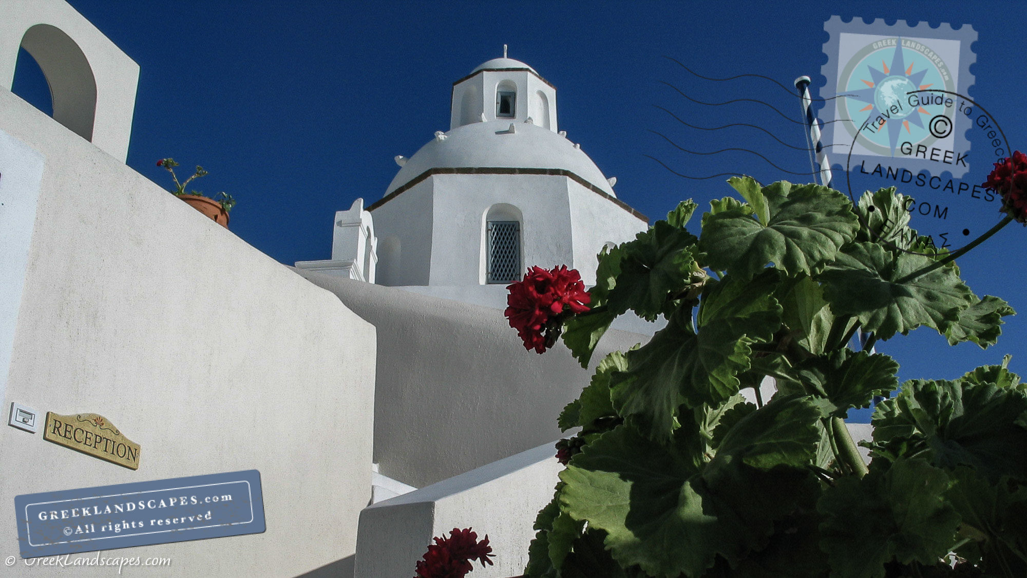 Church dome in Santorini
