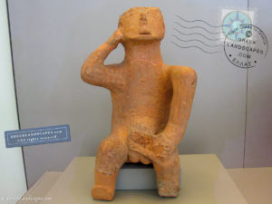 Neolithic figurine, the Thinker at the National Museum of Athens