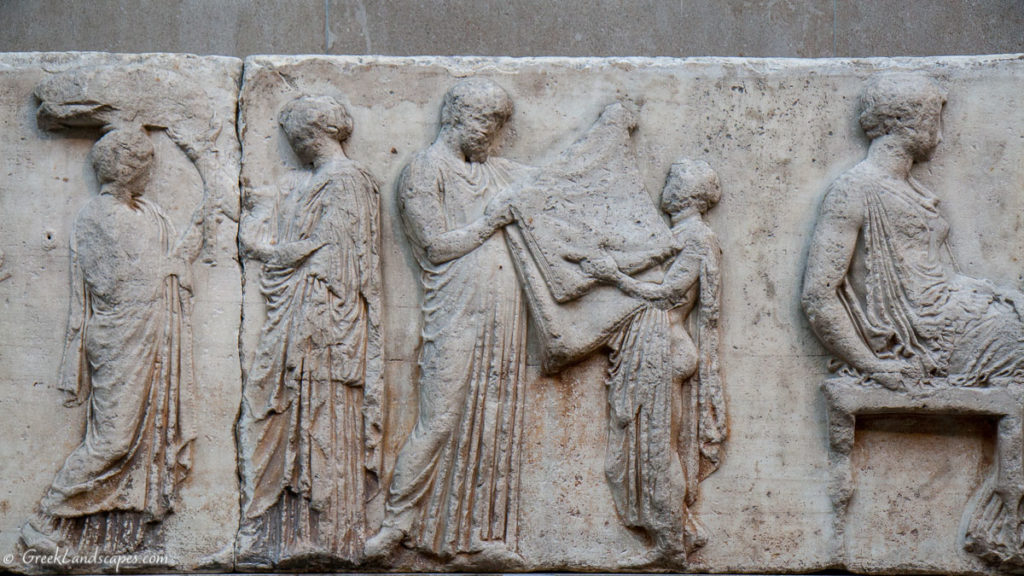 Relief sculpture. Parthenon frieze detail