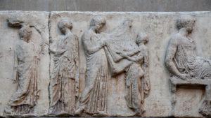 Relief sculpture. Parthenon frieze detail