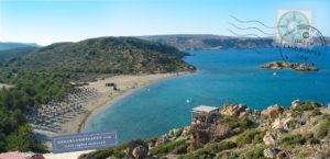 Vat beach in eastern Crete