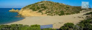 Psili Ammos beach in Vai, Crete