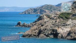 Rocky coastline in Crete, Greece