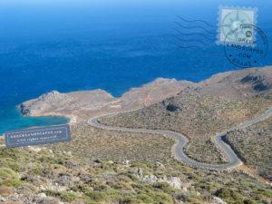 Mountain road leading to the beaches in Crete