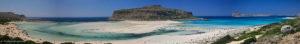 Balos beach panoramic view