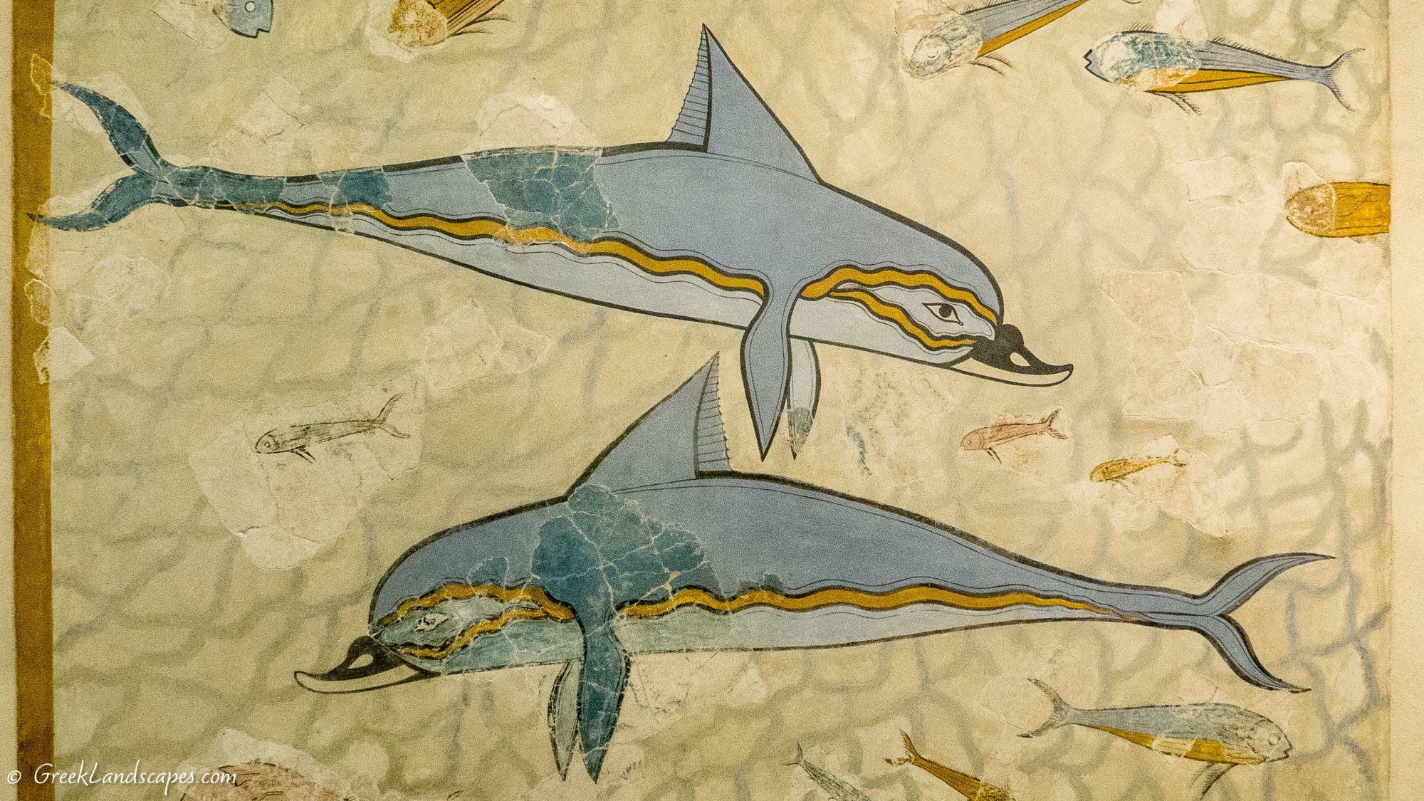 Fresco depicting dolphins