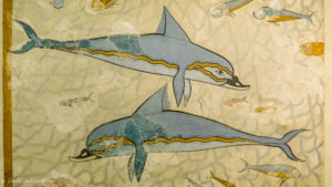Fresco depicting dolphins