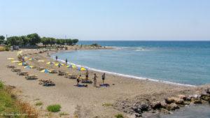 Kamiros beach in Rhodes