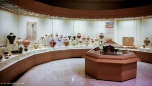 View of the Mycenae museum interior