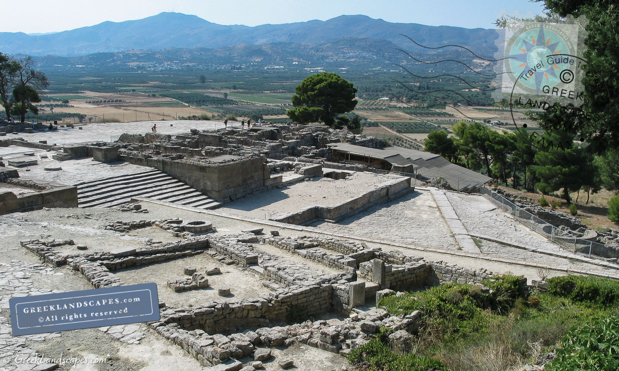 View of Phaistos palace