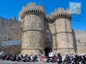 Liberty gate in Rhodes old town