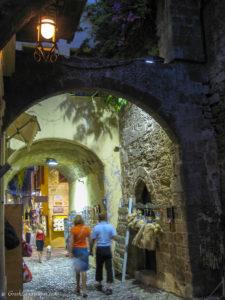 Rhodes old town street