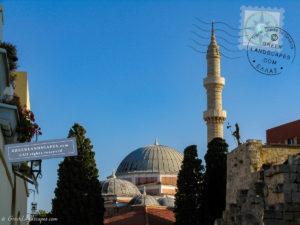 Suleiman mosque in Rhodes old town