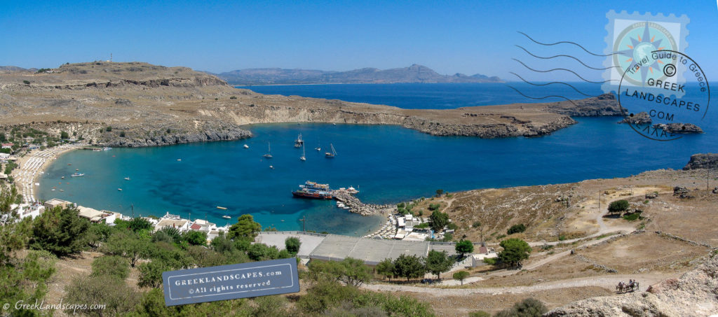 View of Lindos beach