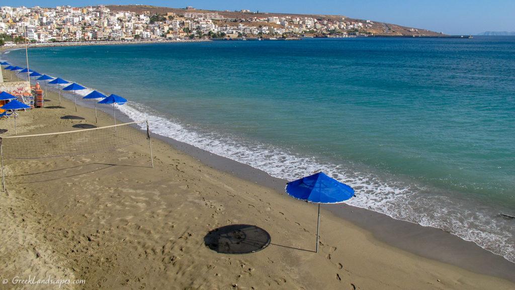 View of Sitia beach