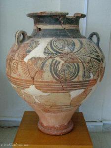 Large ceramic vessel at the Sitia Museum