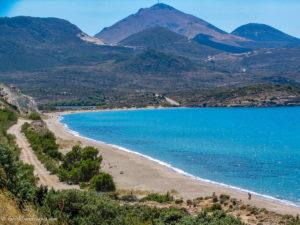 View of long sandy beach, Ahivadolimni