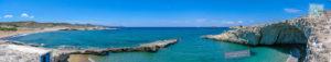 Beach panorama with sea cave