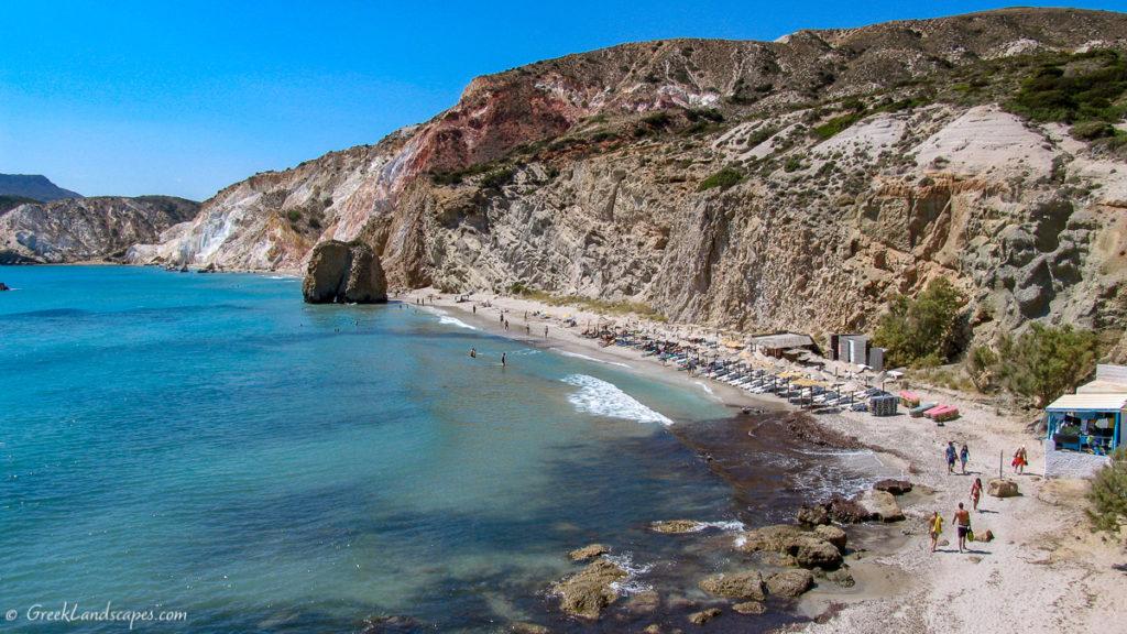 Beach and cliff at Firiplaka