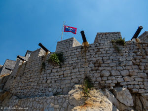 Wall with canons at hydra
