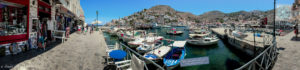 Hydra harbor and promenade