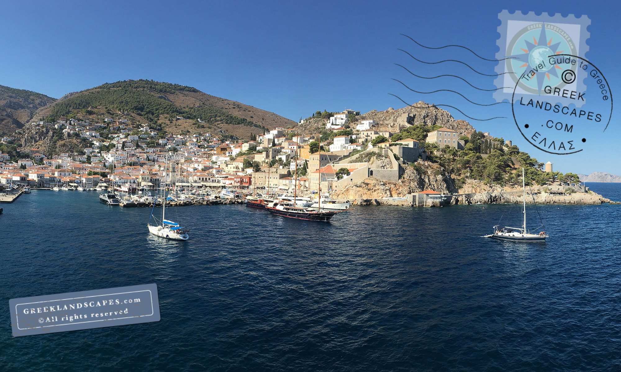 Hydra town and harbor