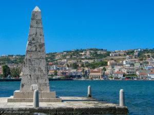 Argostoli with the obelisk