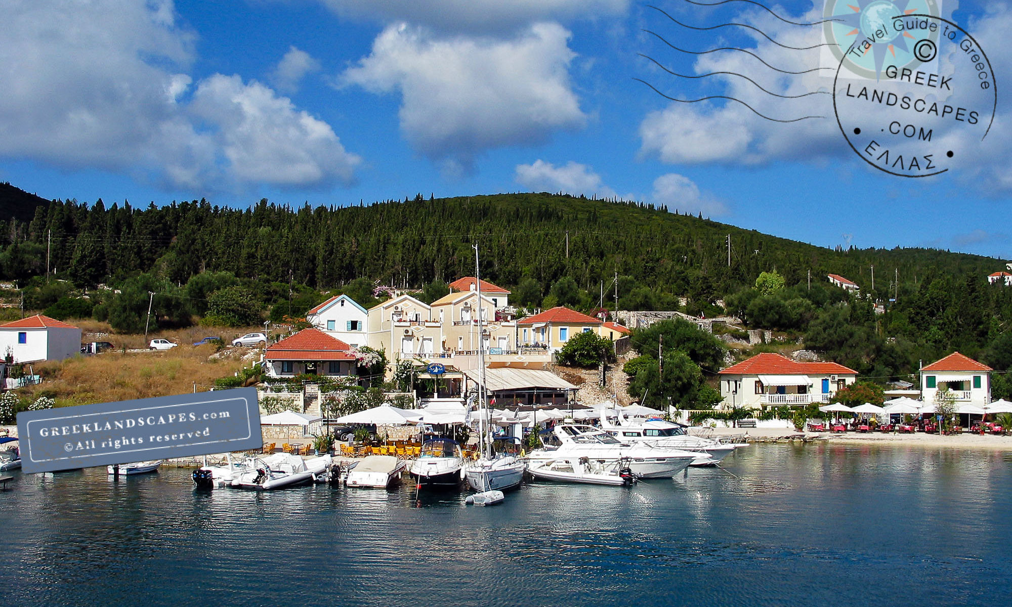 The harbor of Fiskardo in Kefalonia island