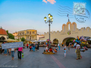Eleftherias square full of life in Kos town