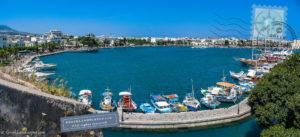 Kos town harbor view