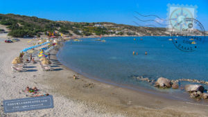 View of Paradise beach in Kos island