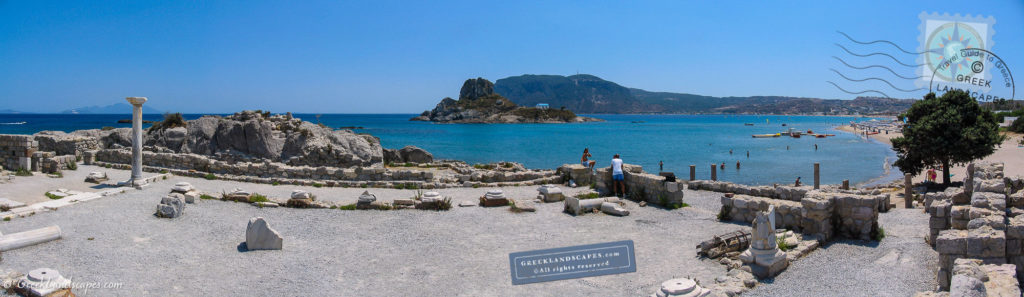 Ancient ruins next to Ag. Stefanos beach